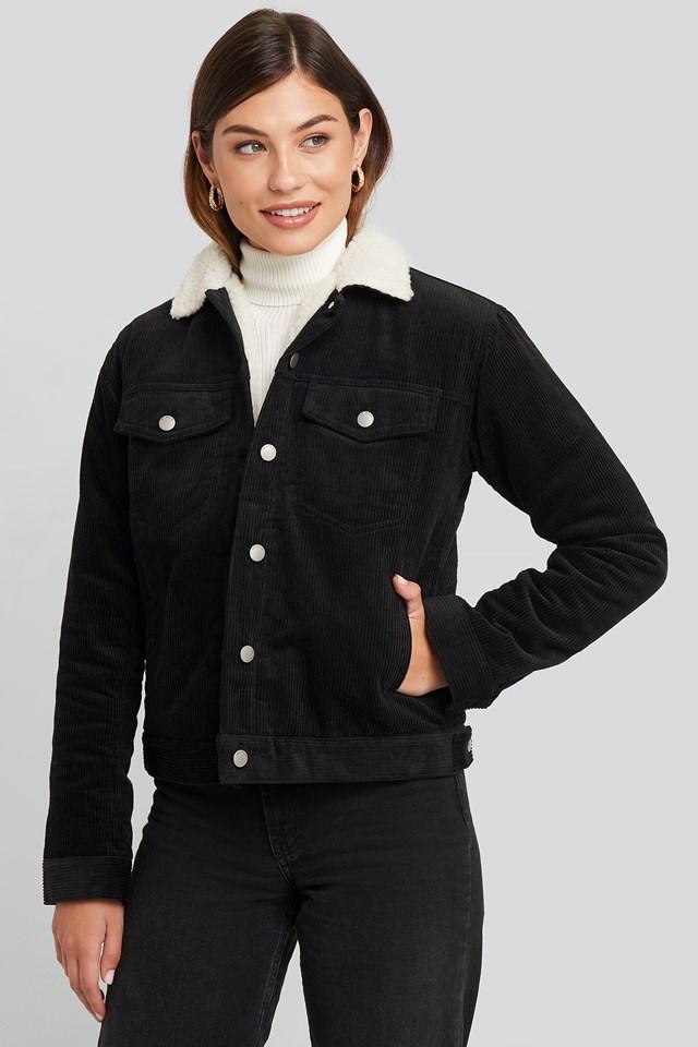 Sana Sherpa Jacket Black Cord