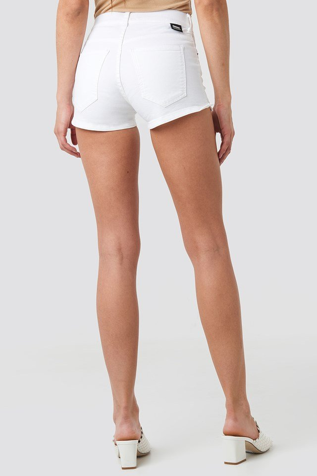 Kara Shorts White