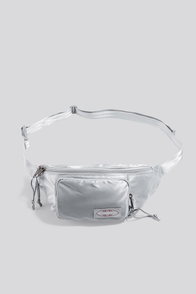 Page Satin Bag Satin Silver