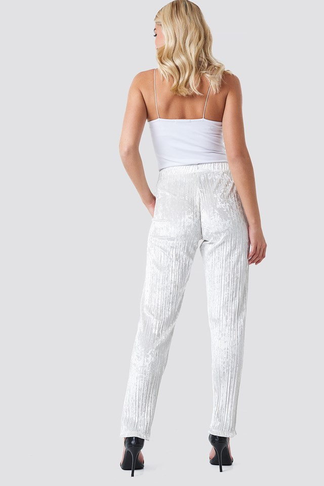 El Veronica Velvet Track Pant Off White