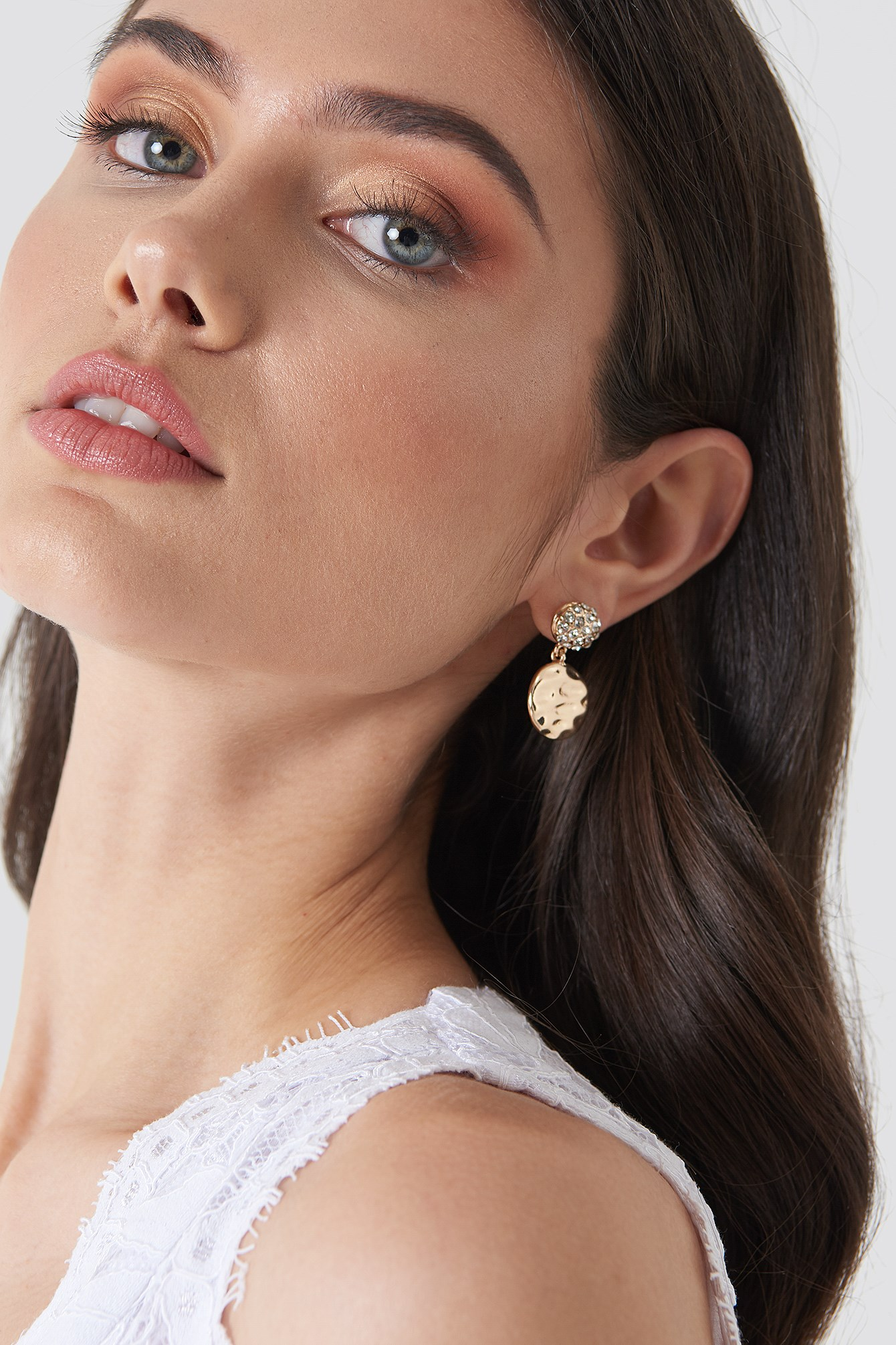 Embellished And Structured Round Earrings NA-KD.COM