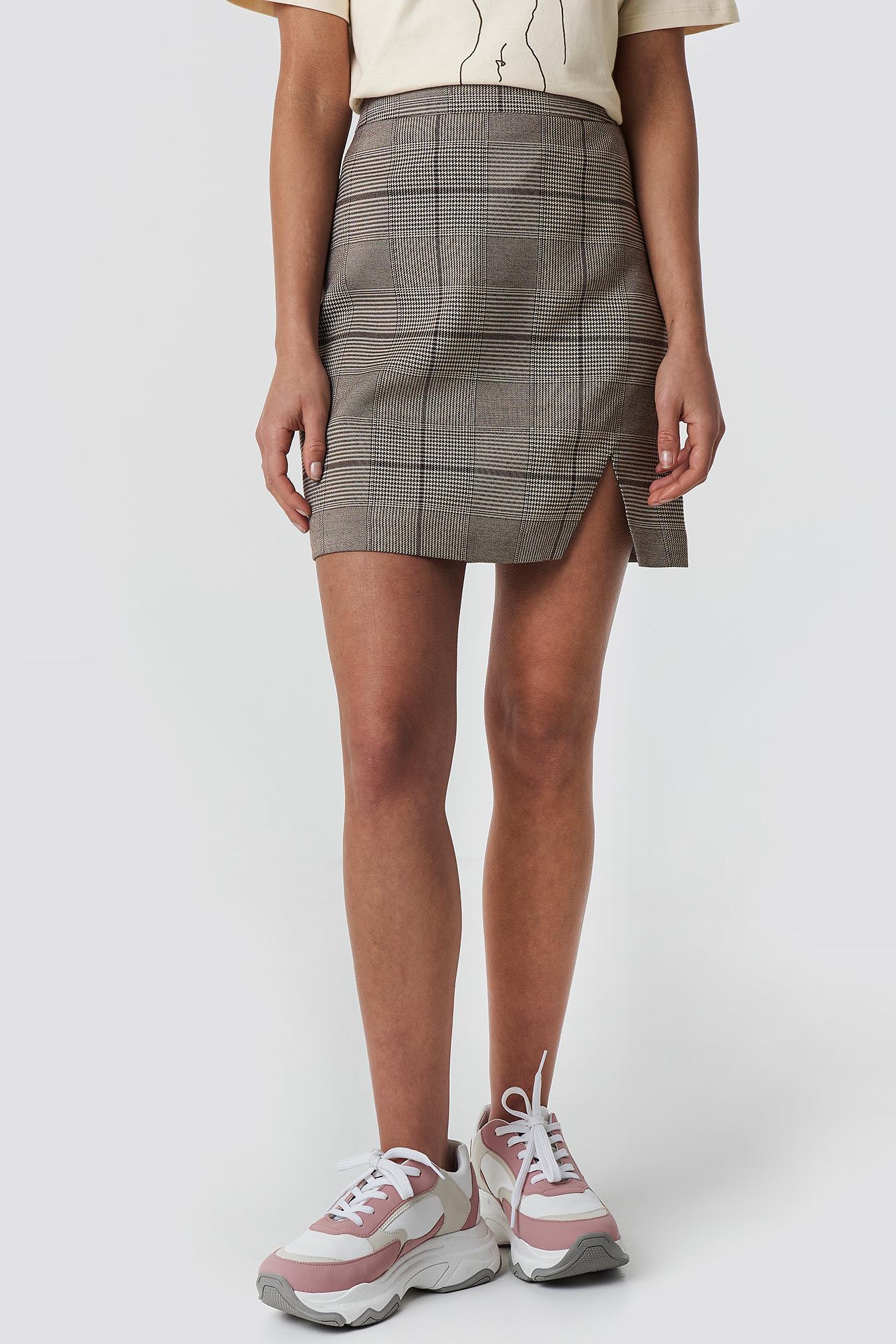 Checked Skirt NA-KD.COM