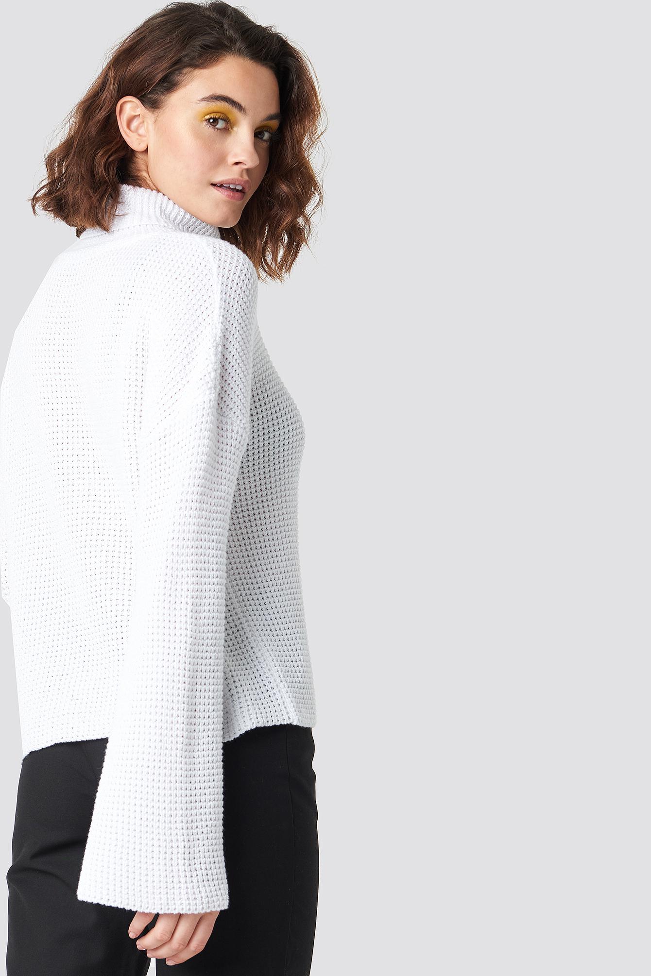 Dropped Shoulder Polo Knit NA-KD.COM