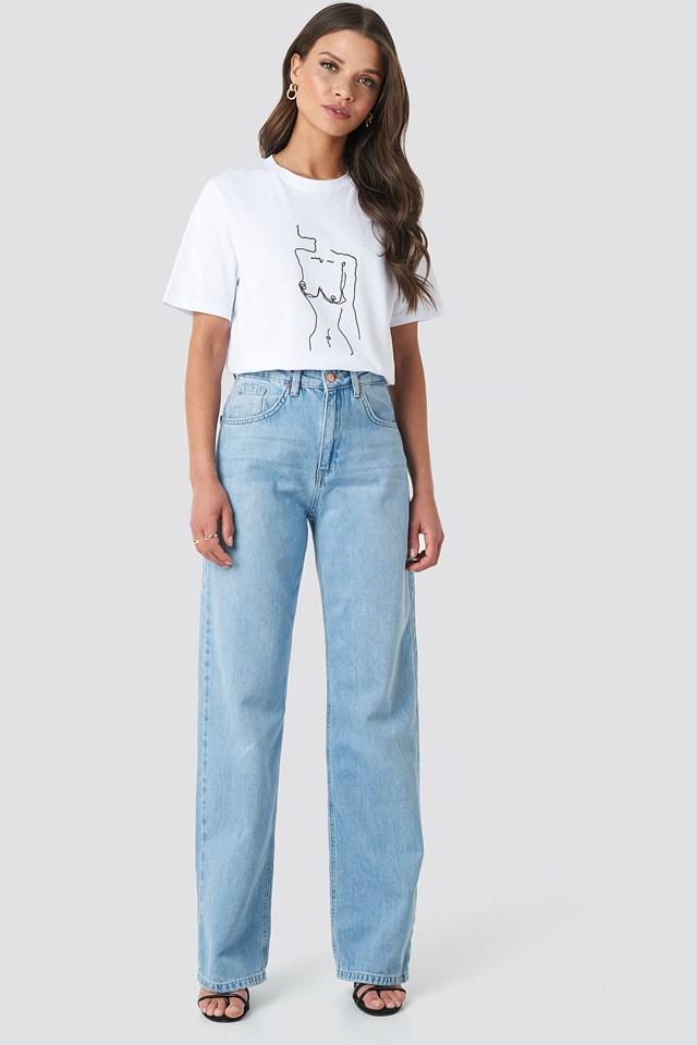 Lady Print T-shirt White