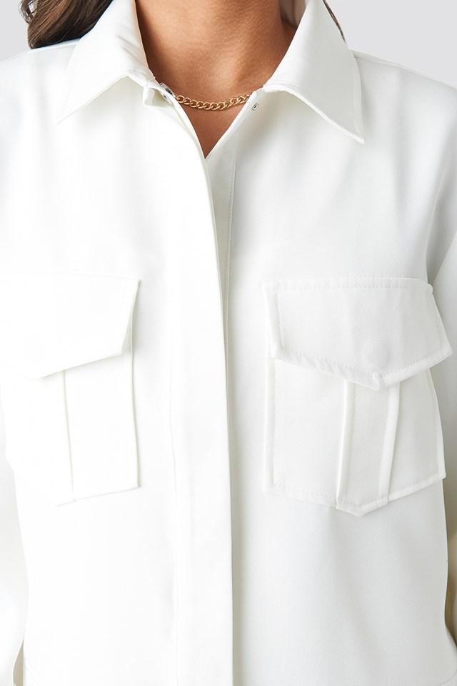 Front Pocket Jacket White