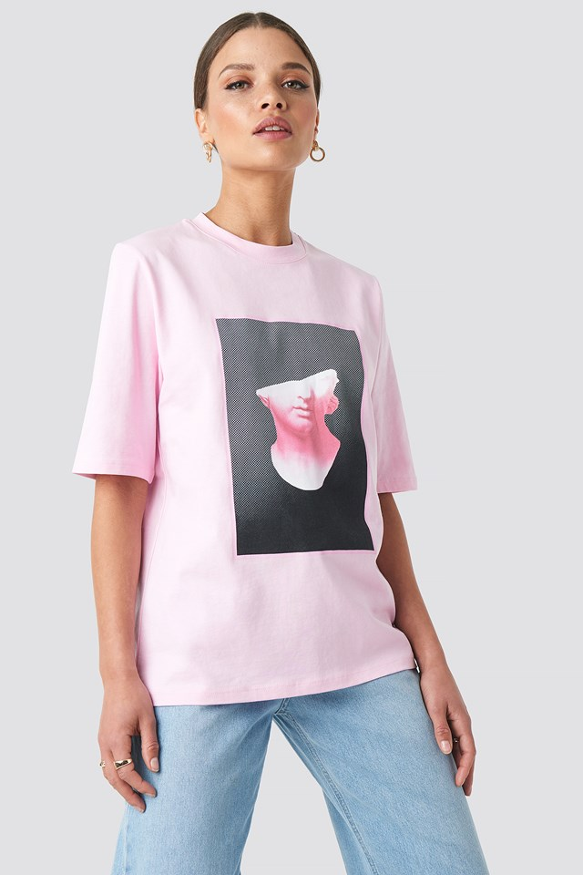 Front Print Tee Pink