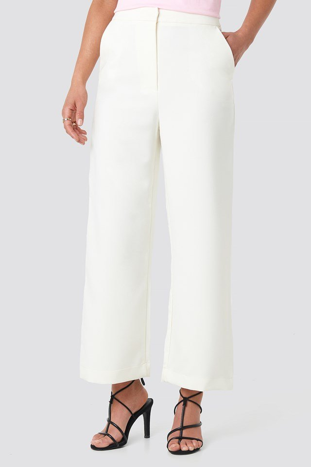 Highwaist Cropped Pants White