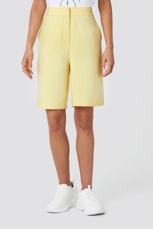 Mid Length Shorts Yellow