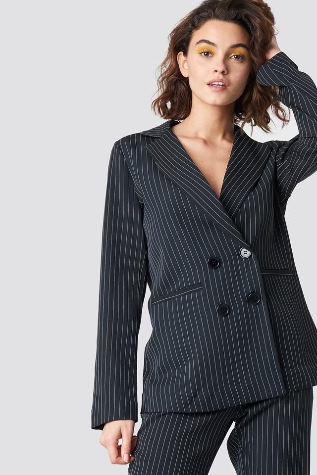 Pinstripe Blazer | Pinstripe blazer, Blazer, Clothes design