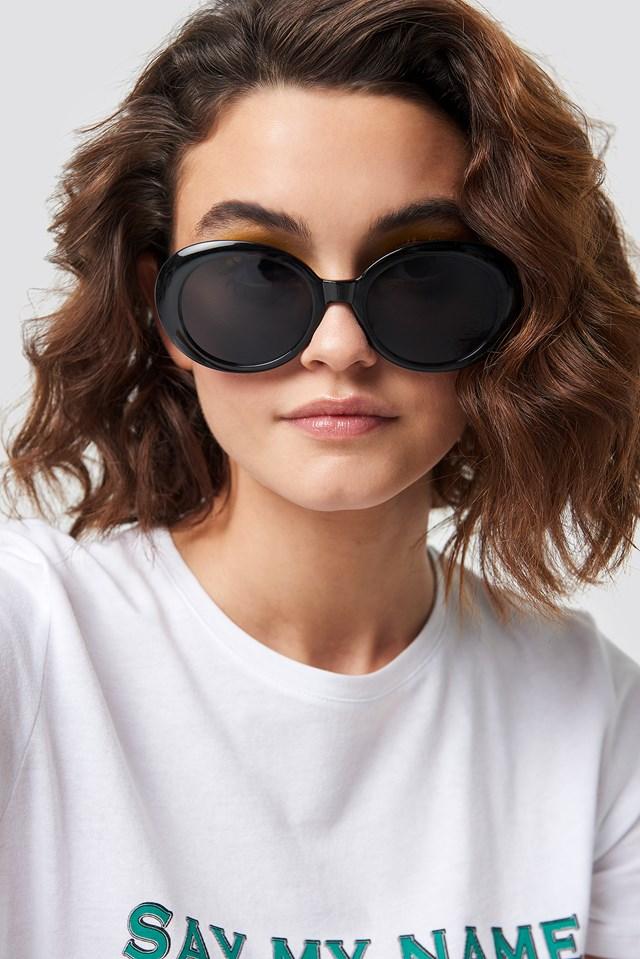 Oval Sunglasses Black