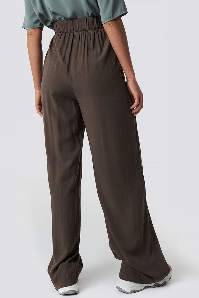 Put On Suit Pants Brown