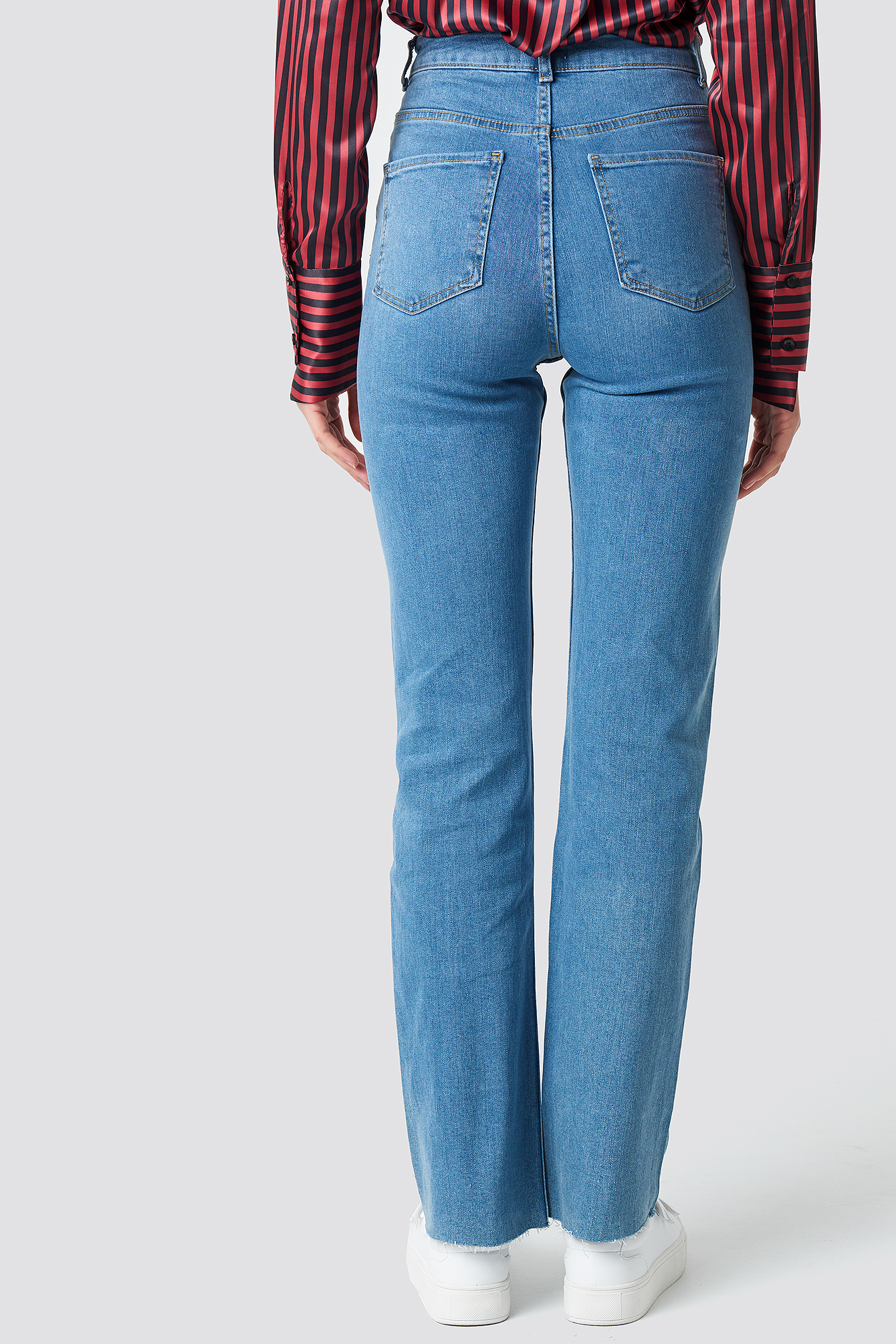 Blue Denim Raw Edge Jeans