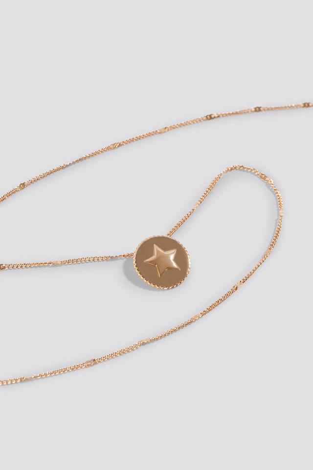 Round Strap Pendant Necklace NA-KD.COM