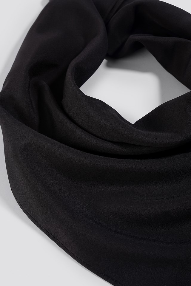 Satin Scarf Black
