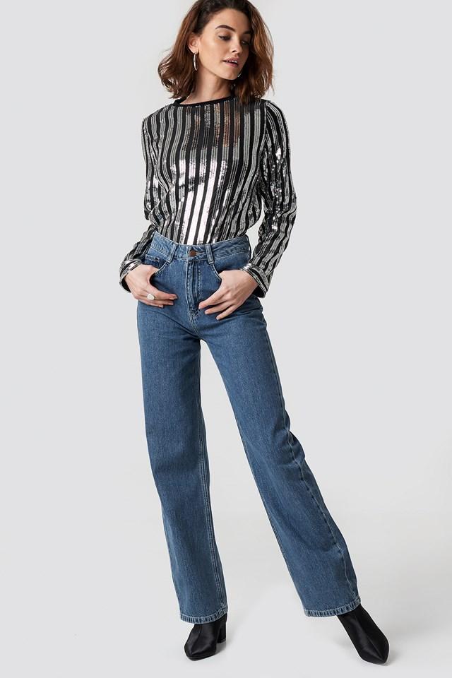 Sequin Sweater Black/Silver