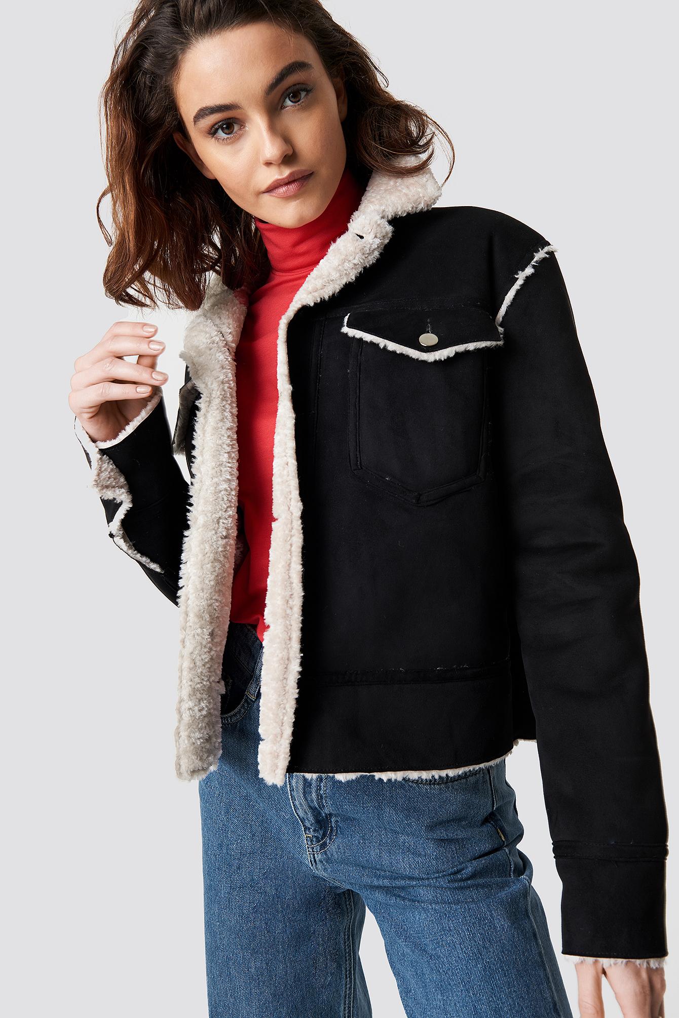 Shearling Jacket NA-KD.COM