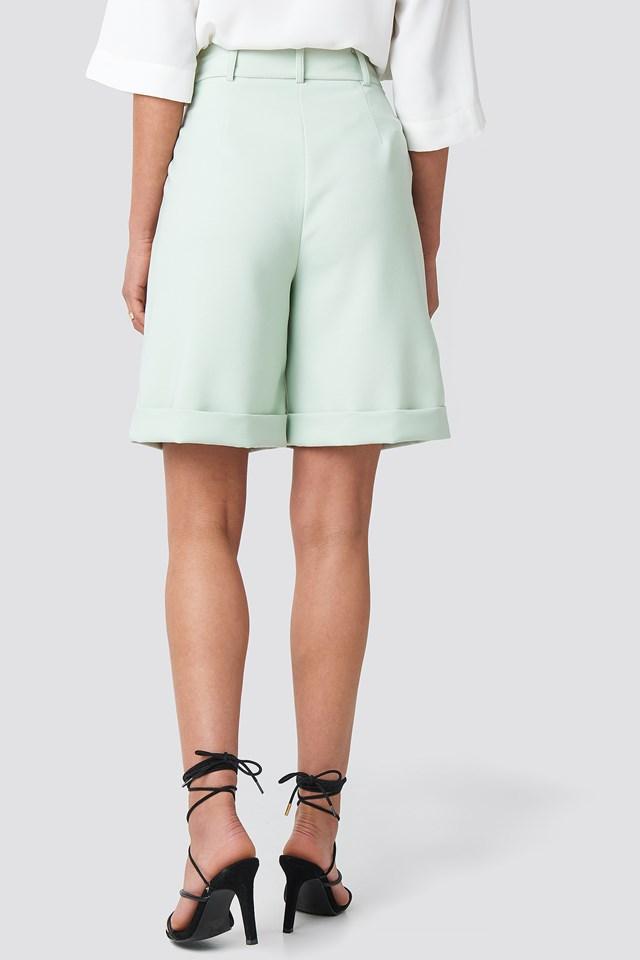 Wide Leg City Shorts Mint
