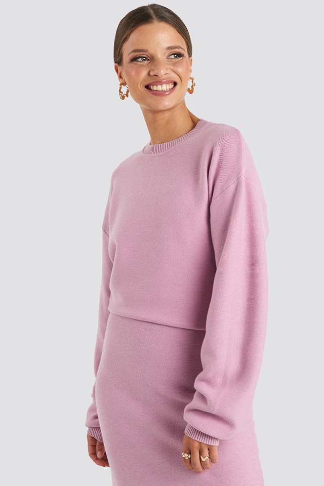 Knitted Oversized Sweater Dusty Pink