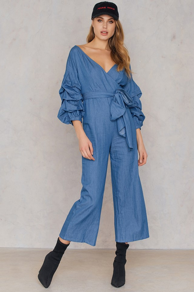 Culotte Jumpsuit Blue