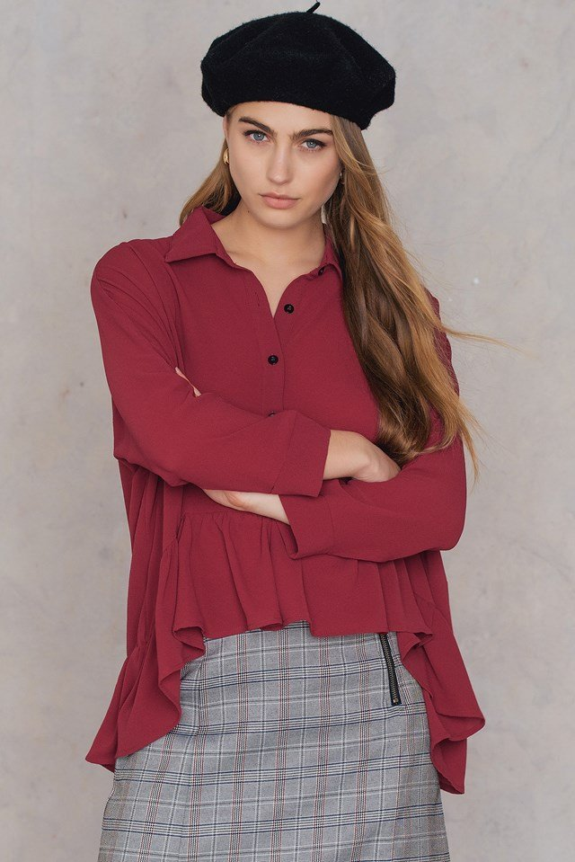 Frill Shirt Blouse NA-KD.COM