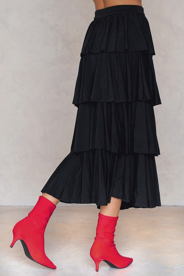 Ruffle Layer Maxi Skirt NA-KD.COM
