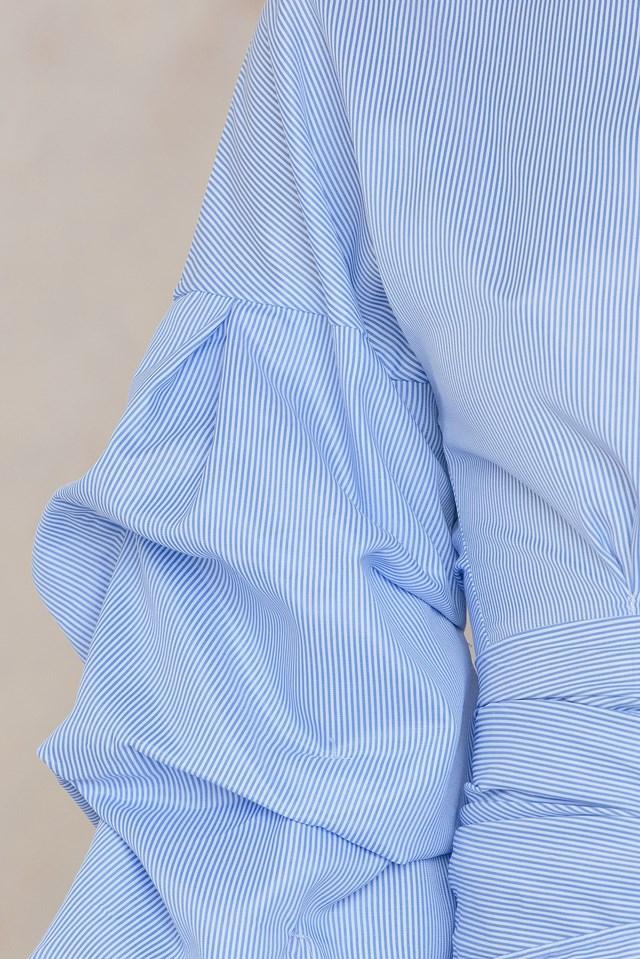 Sleeve Blouse Blue
