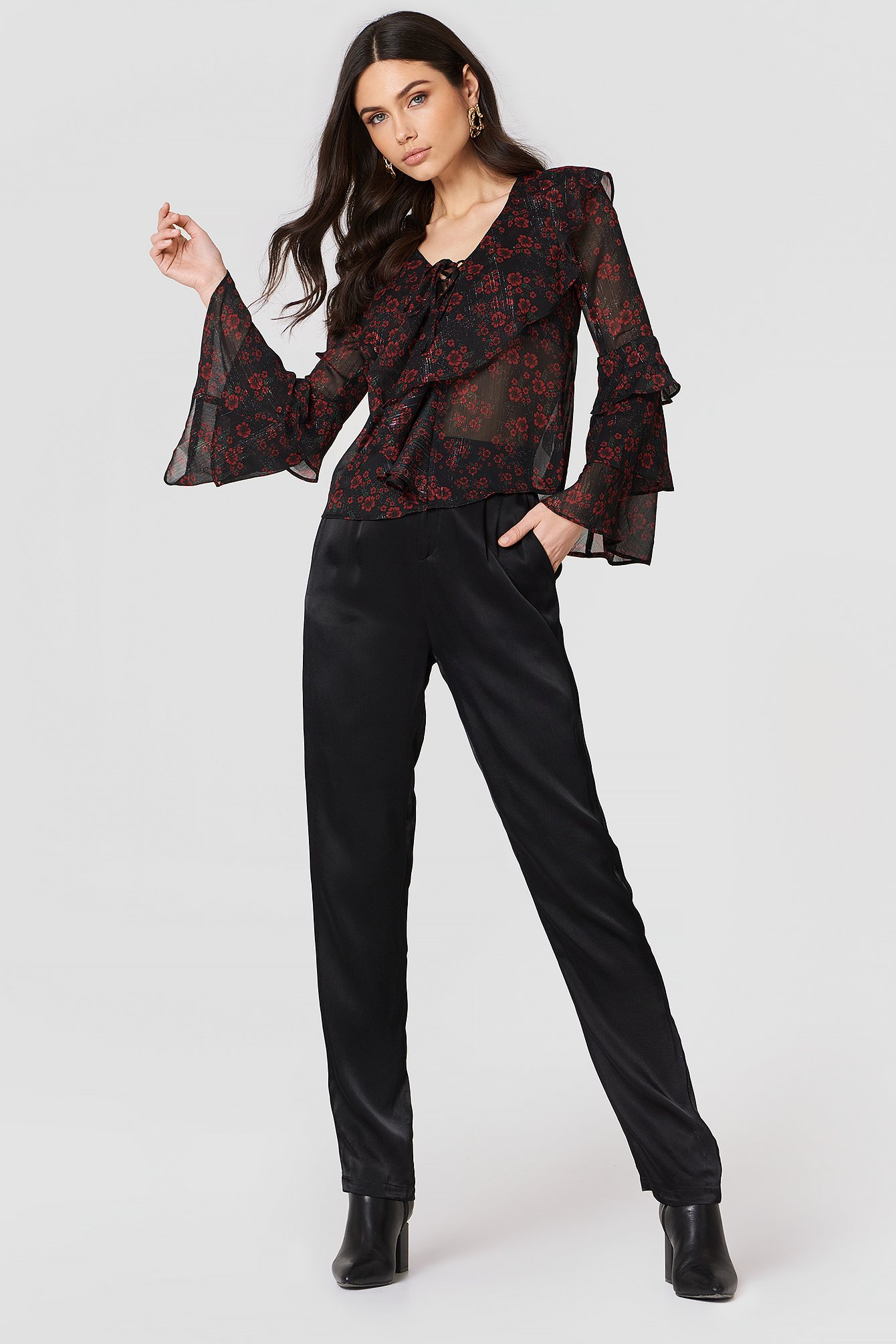 Night Blossom Blouse NA-KD.COM