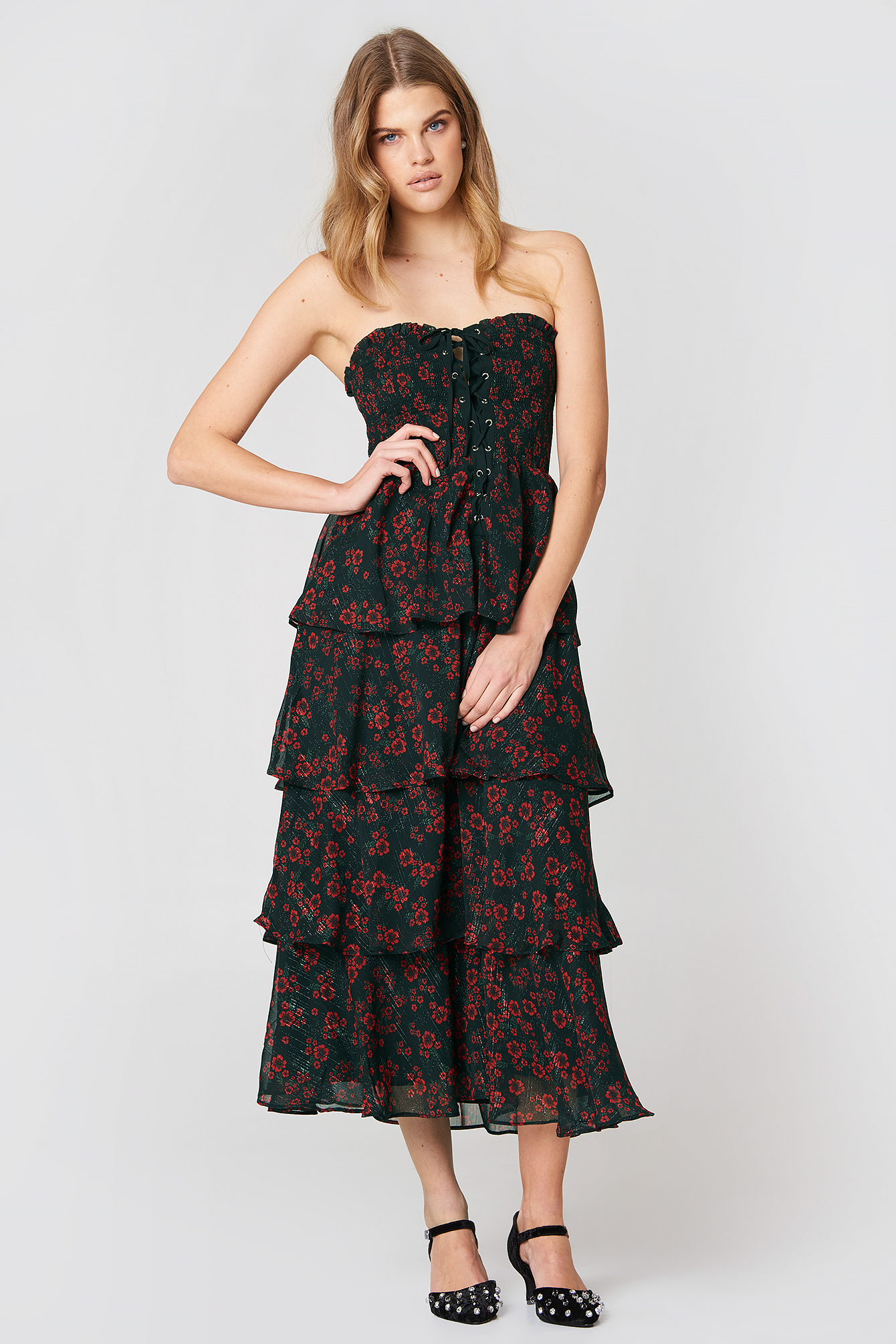 Night Blossom Maxi Dress NA-KD.COM