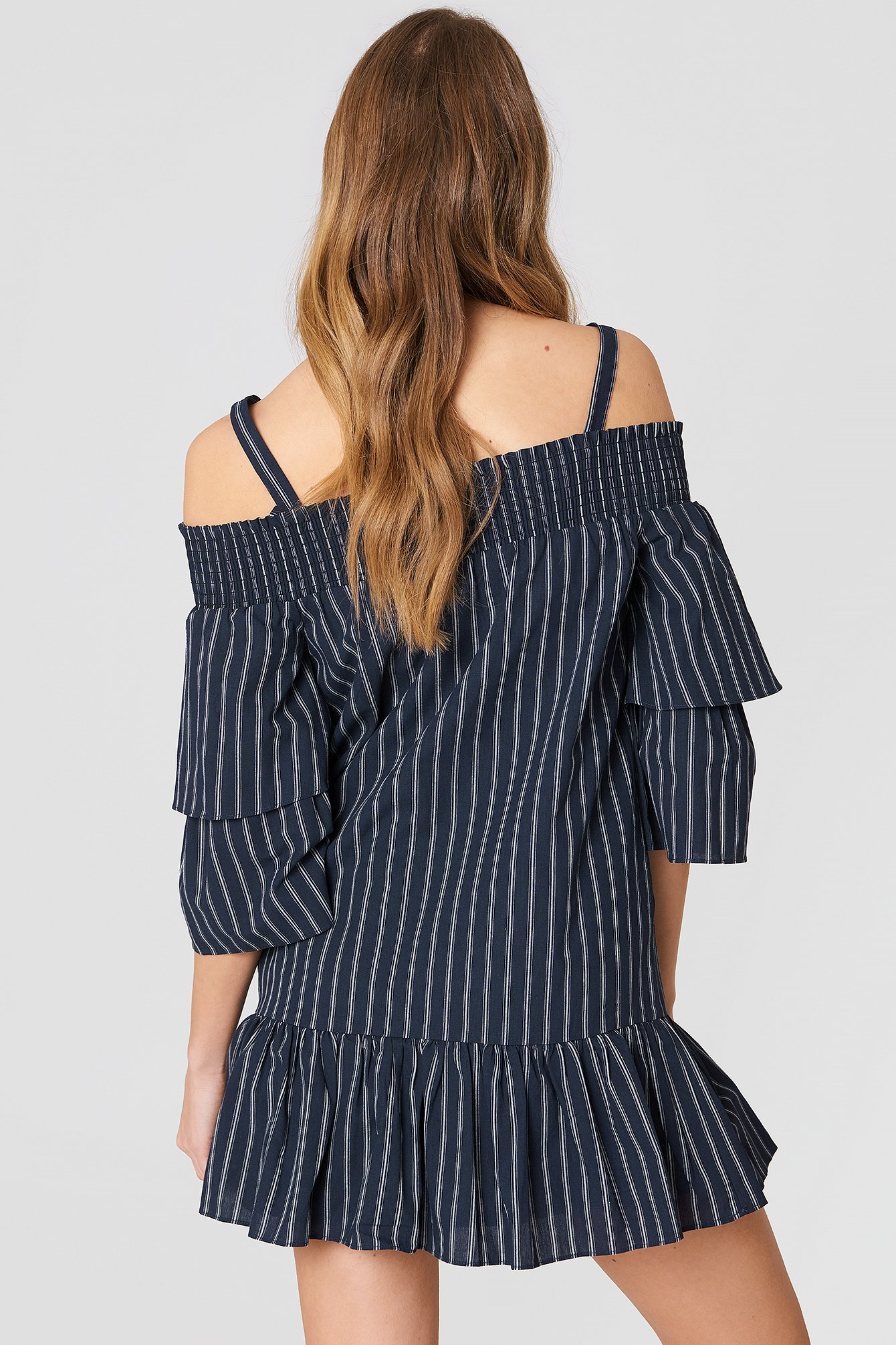 Off Shoulder Smocked Dress NA-KD.COM