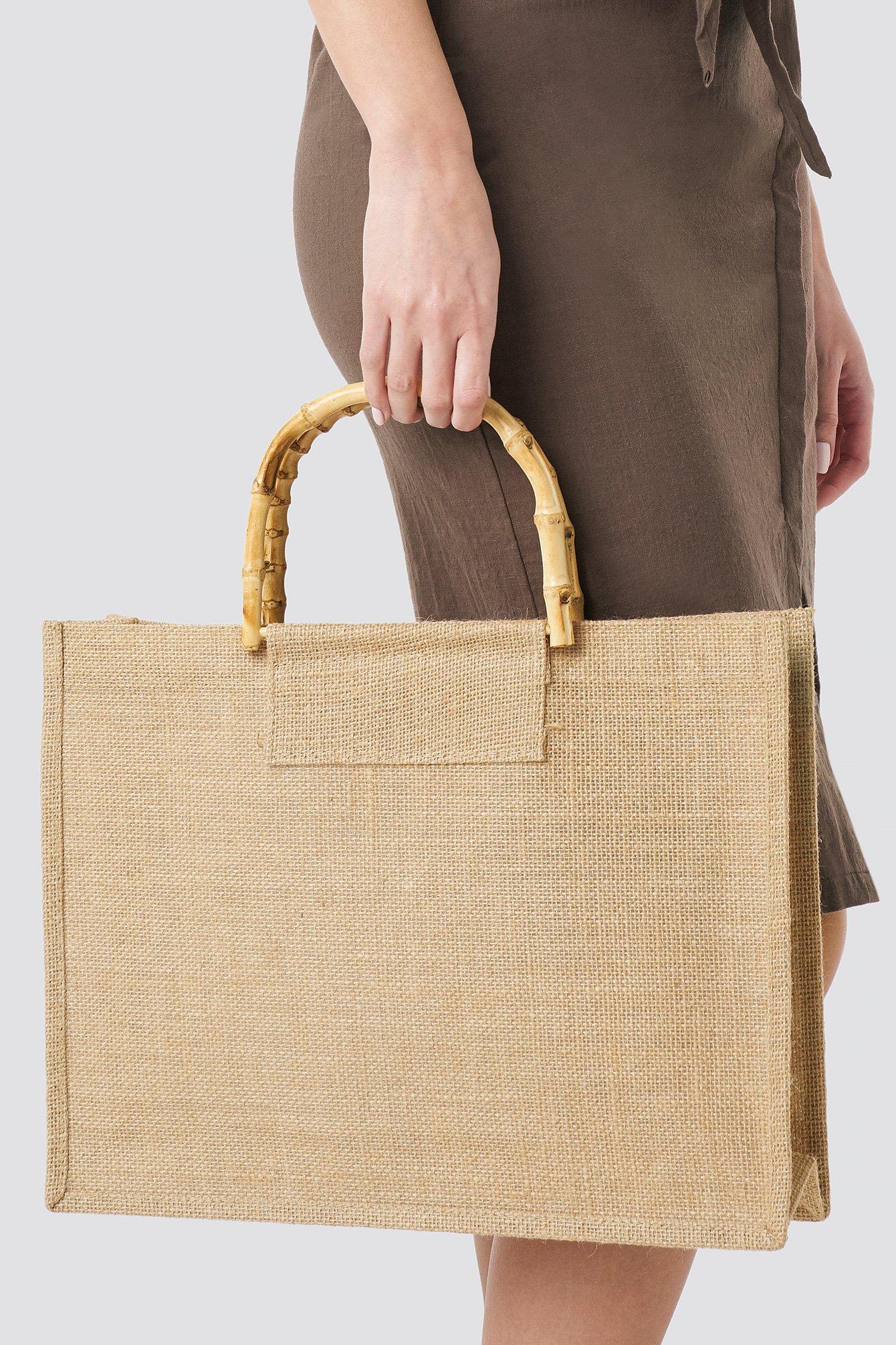 Bamboo Handle Shopper NA-KD.COM