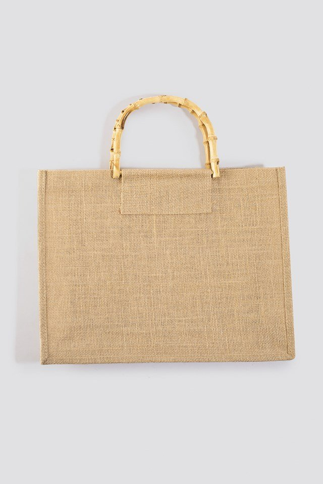 Bamboo Handle Shopper Natural