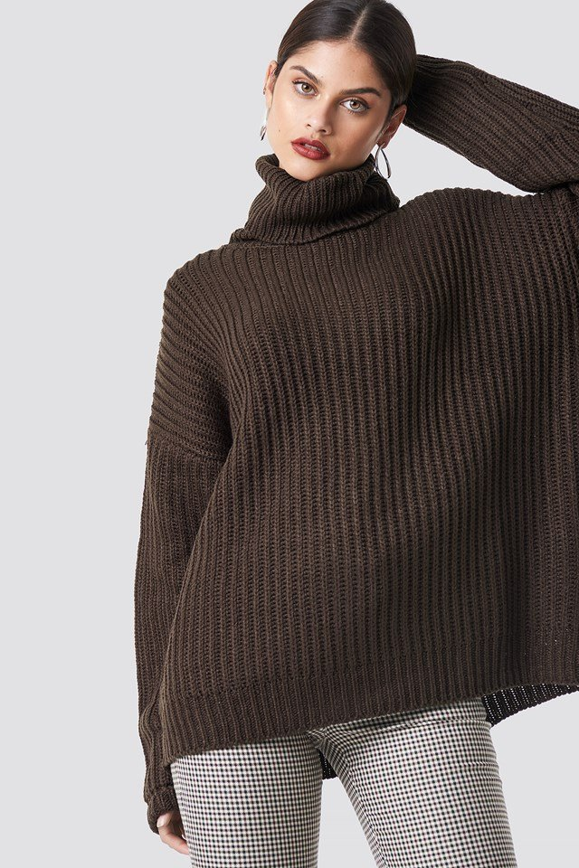 Big Chunky Knitted Sweater NA-KD Trend