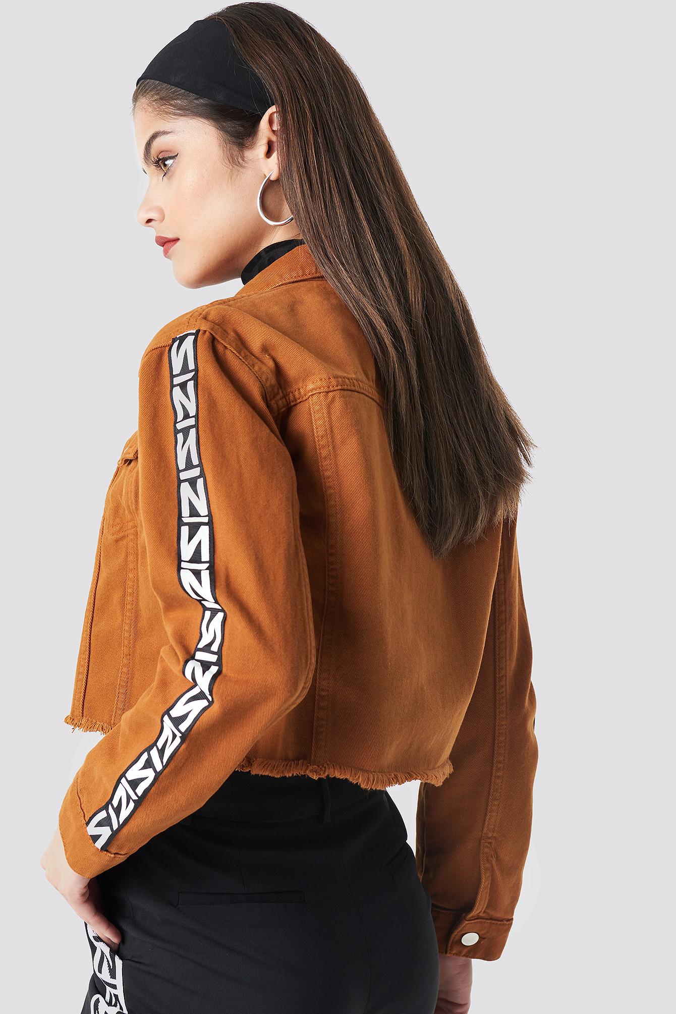 N Branded Denim Jacket NA-KD.COM