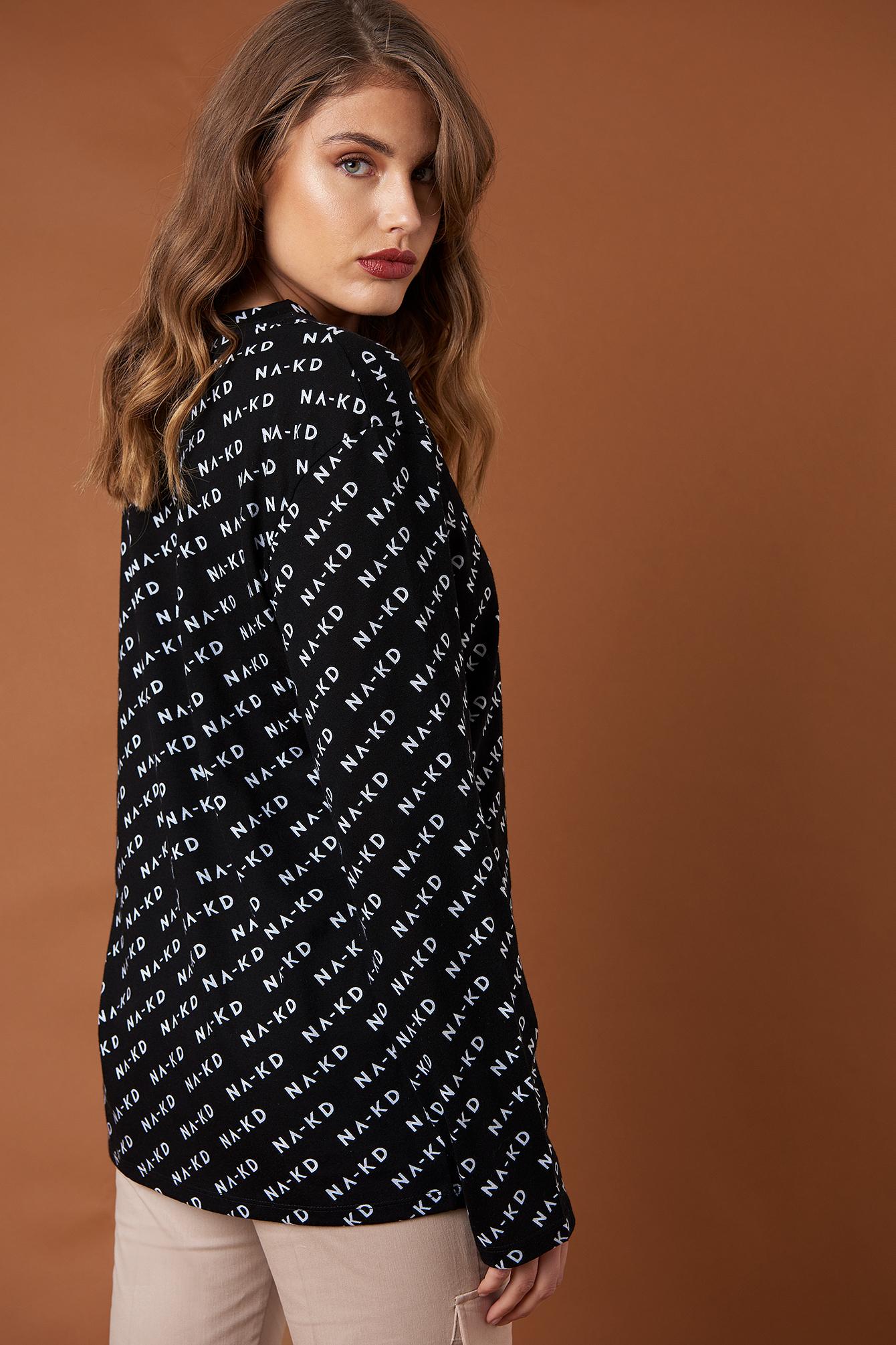 Branded Long Sleeve Top NA-KD.COM