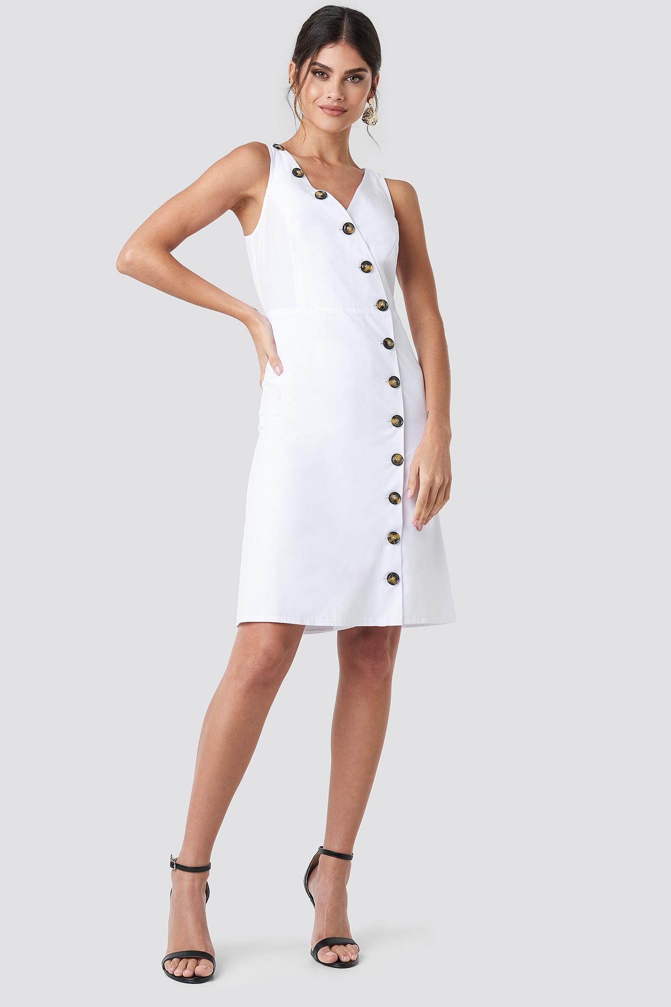 Buttoned Detail Dress NA-KD.COM