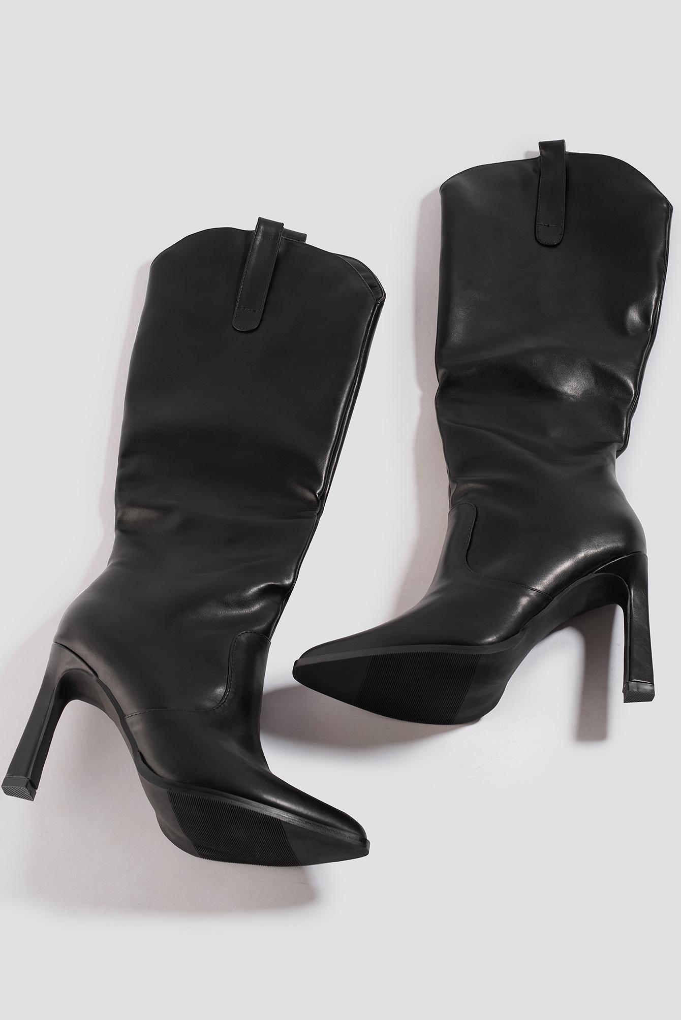 Calf High Cowboy Boots NA-KD.COM