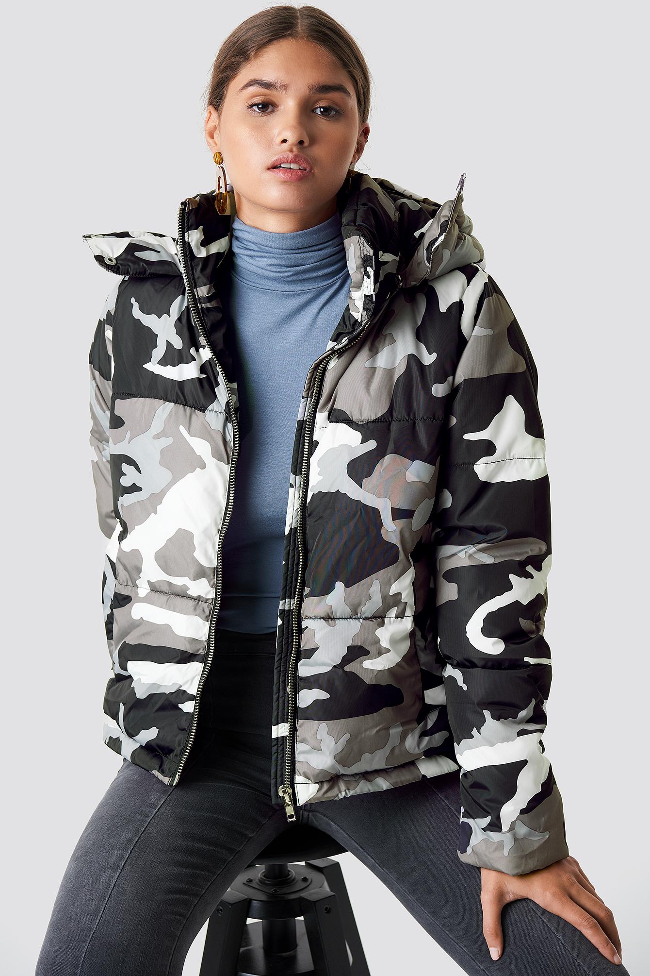 na-kd -  Camo Padded Jacket - Multicolor