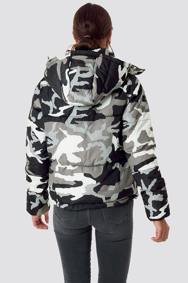 Camo Padded Jacket Camo/Grey