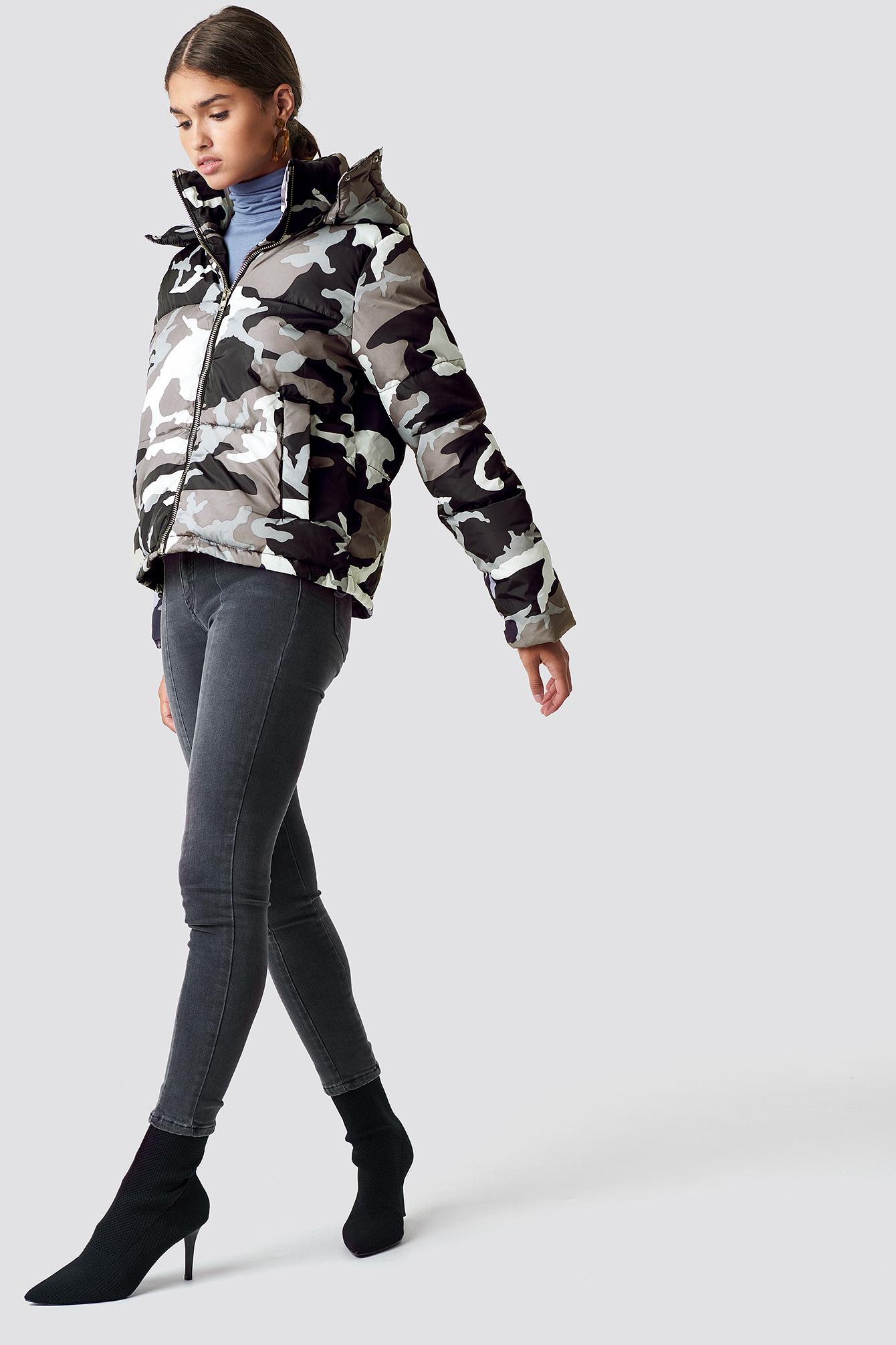 Camo Padded Jacket NA-KD.COM