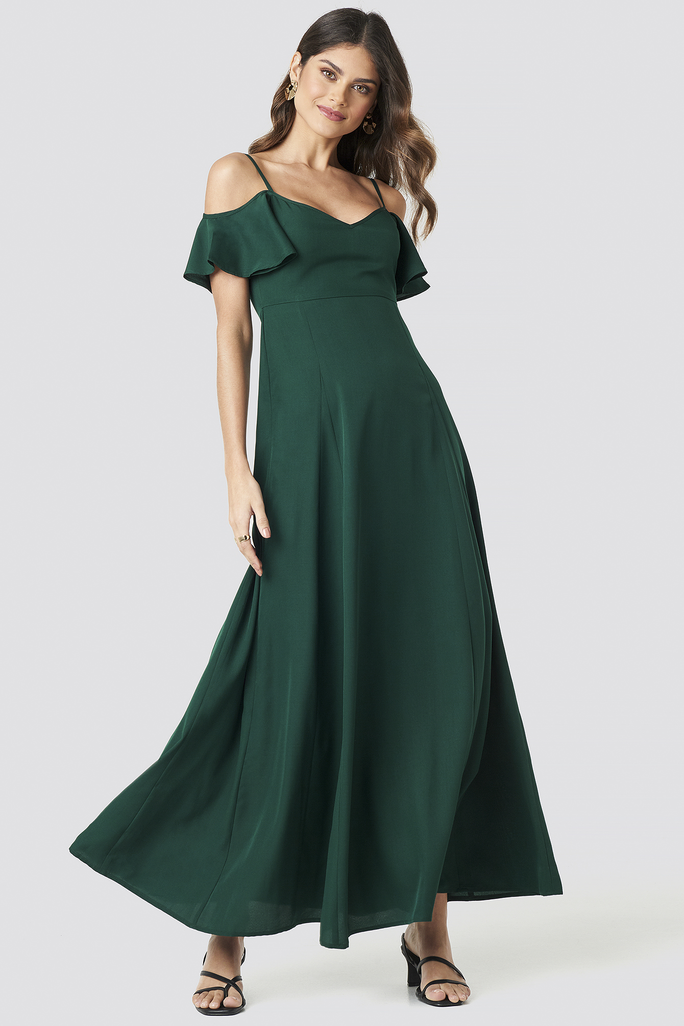 Cold Shoulder Maxi Dress NA-KD.COM