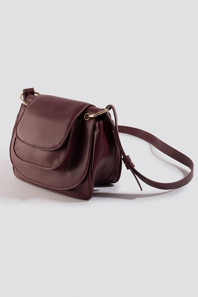 Crossbody Saddle Bag Wine Red