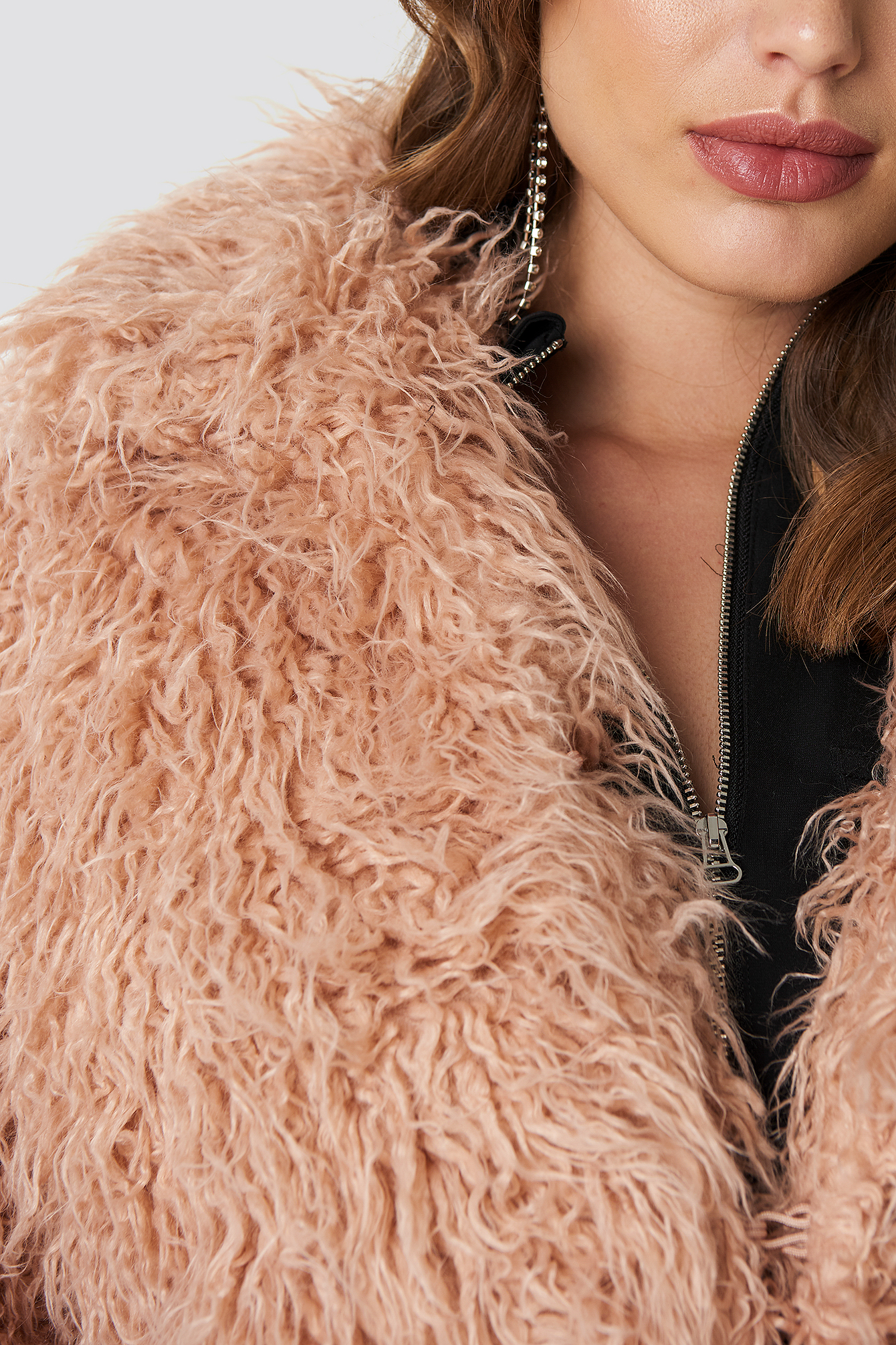 Faux Fur Long Jacket NA-KD.COM