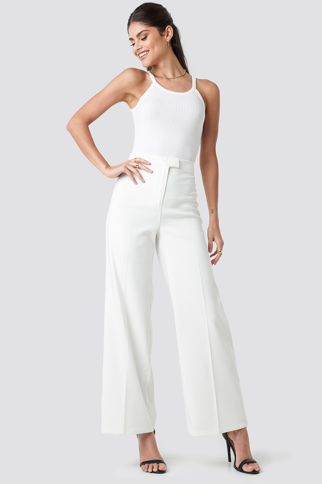 na-kd classic -  Flared Suit Pants - White