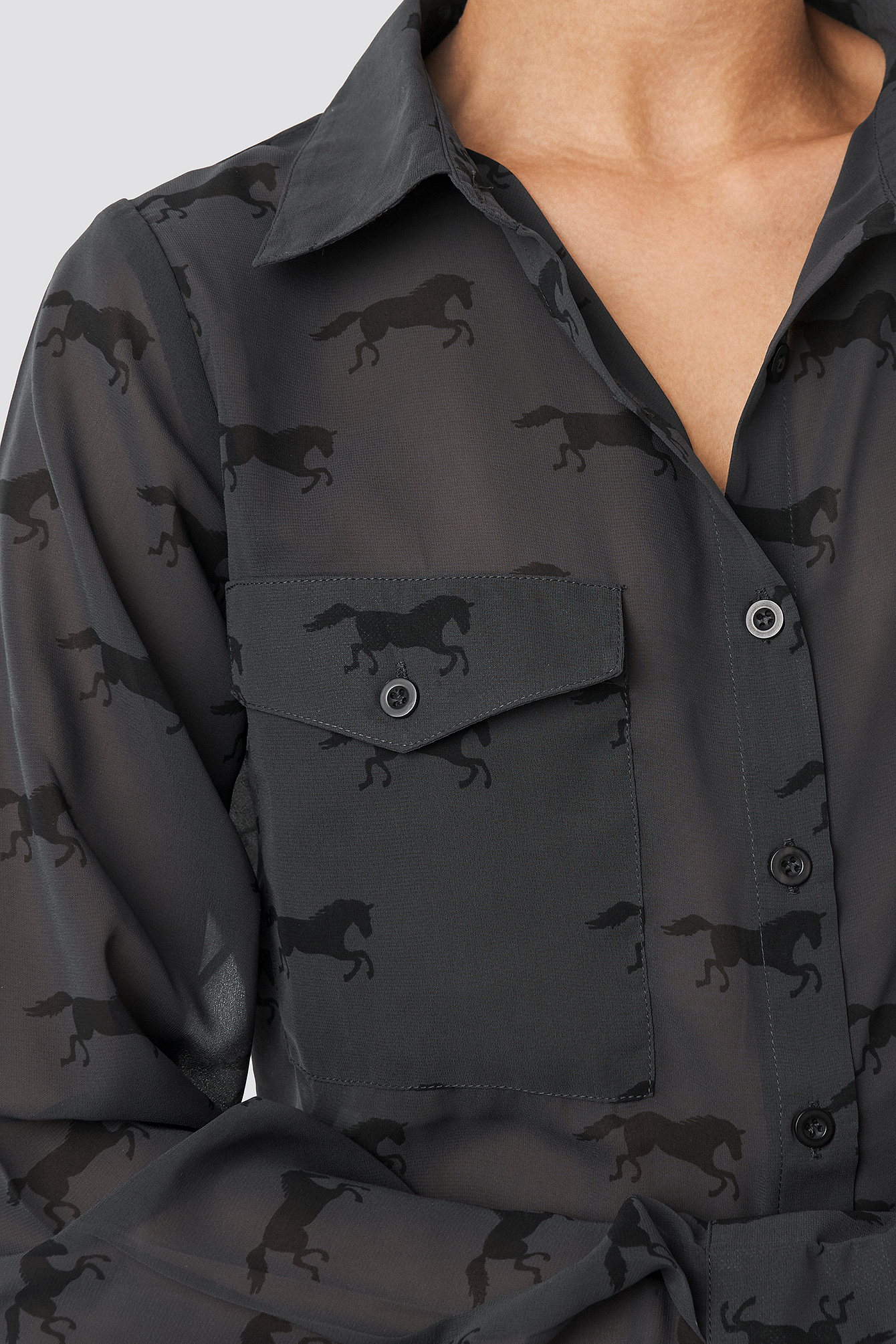 Giddy Up Printed Shirt NA-KD.COM