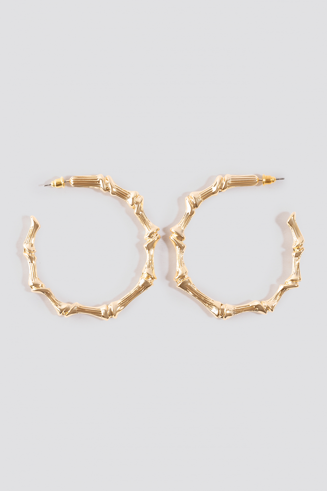 Golden Bamboo Hoop Earrings NA-KD.COM