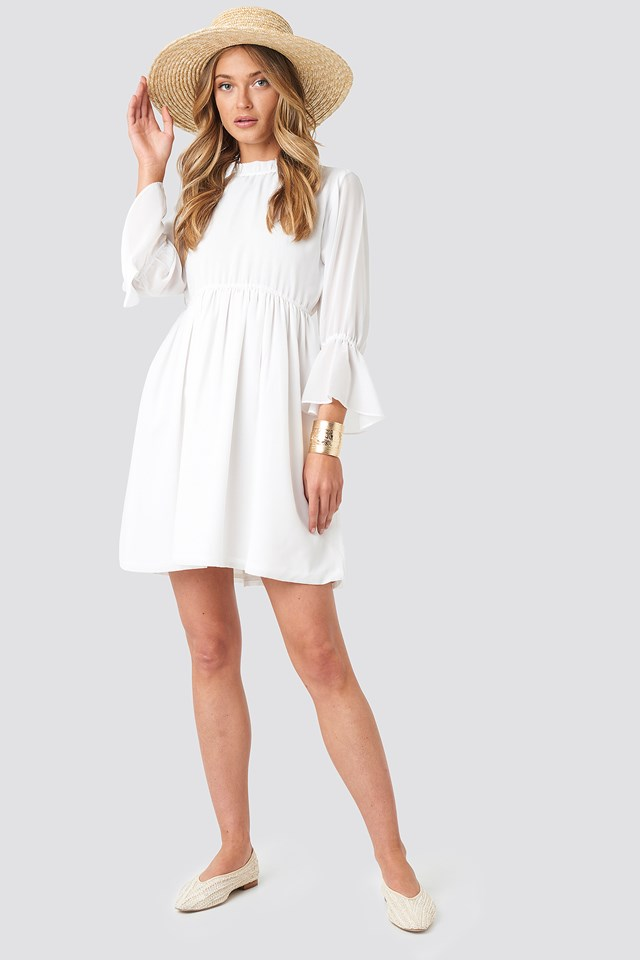 High Neck Flare Mini Dress NA-KD.COM