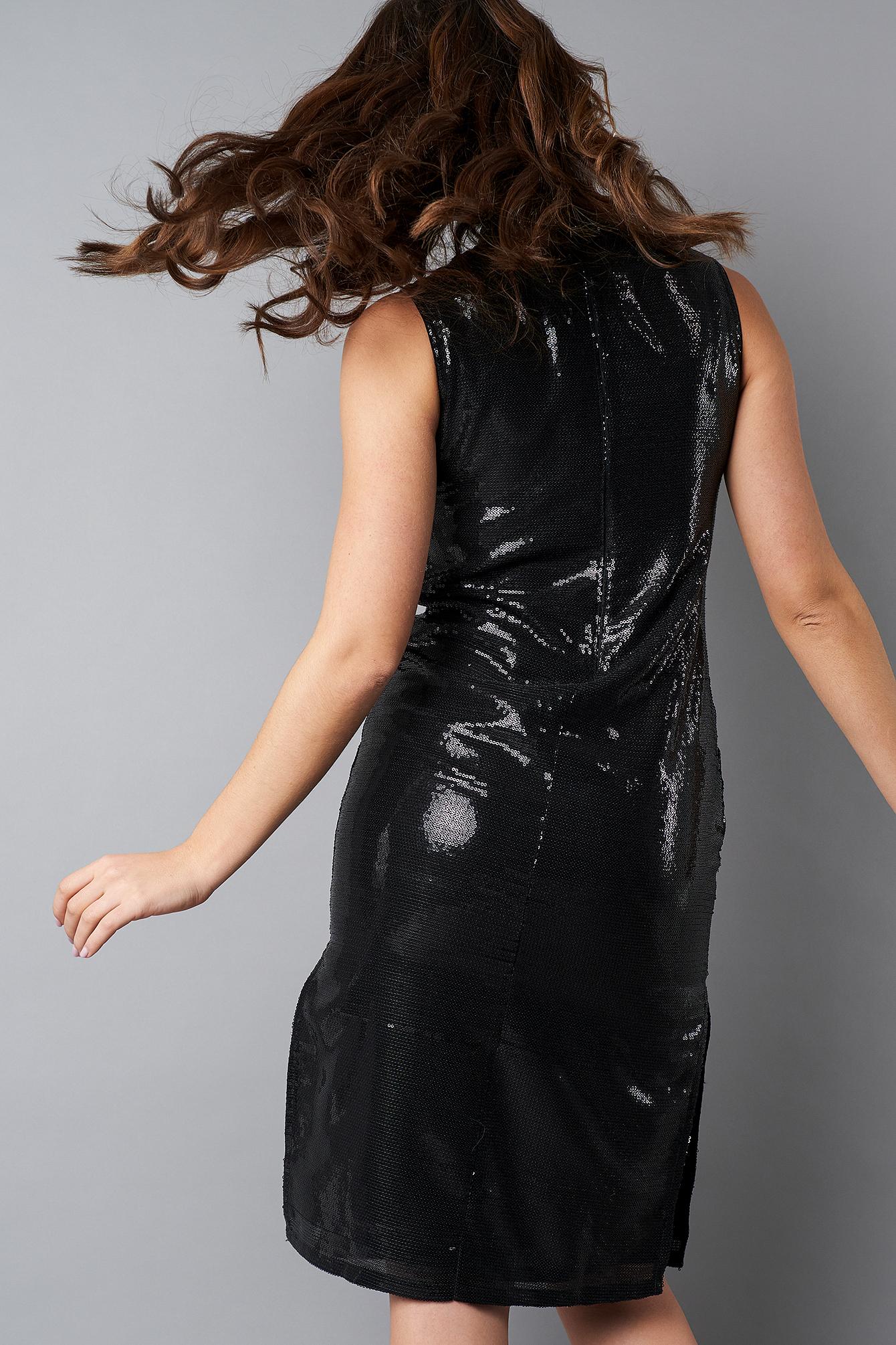 High Neck Side Slit Sequins Dress NA-KD.COM
