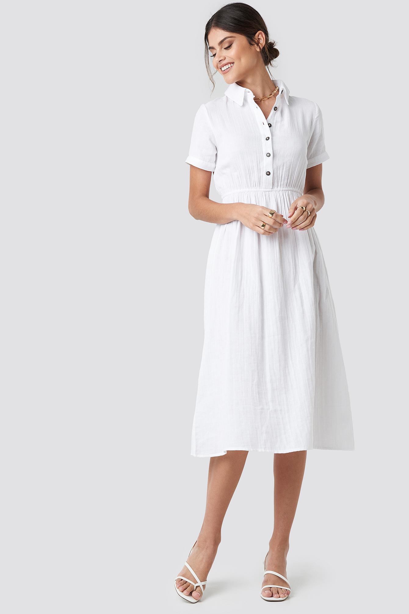 Light Cotton Midi Dress NA-KD.COM