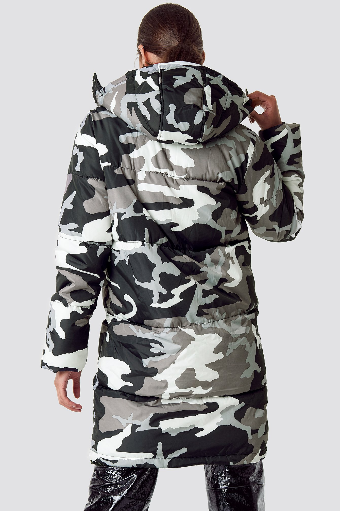 Long Camo Padded Jacket NA-KD.COM