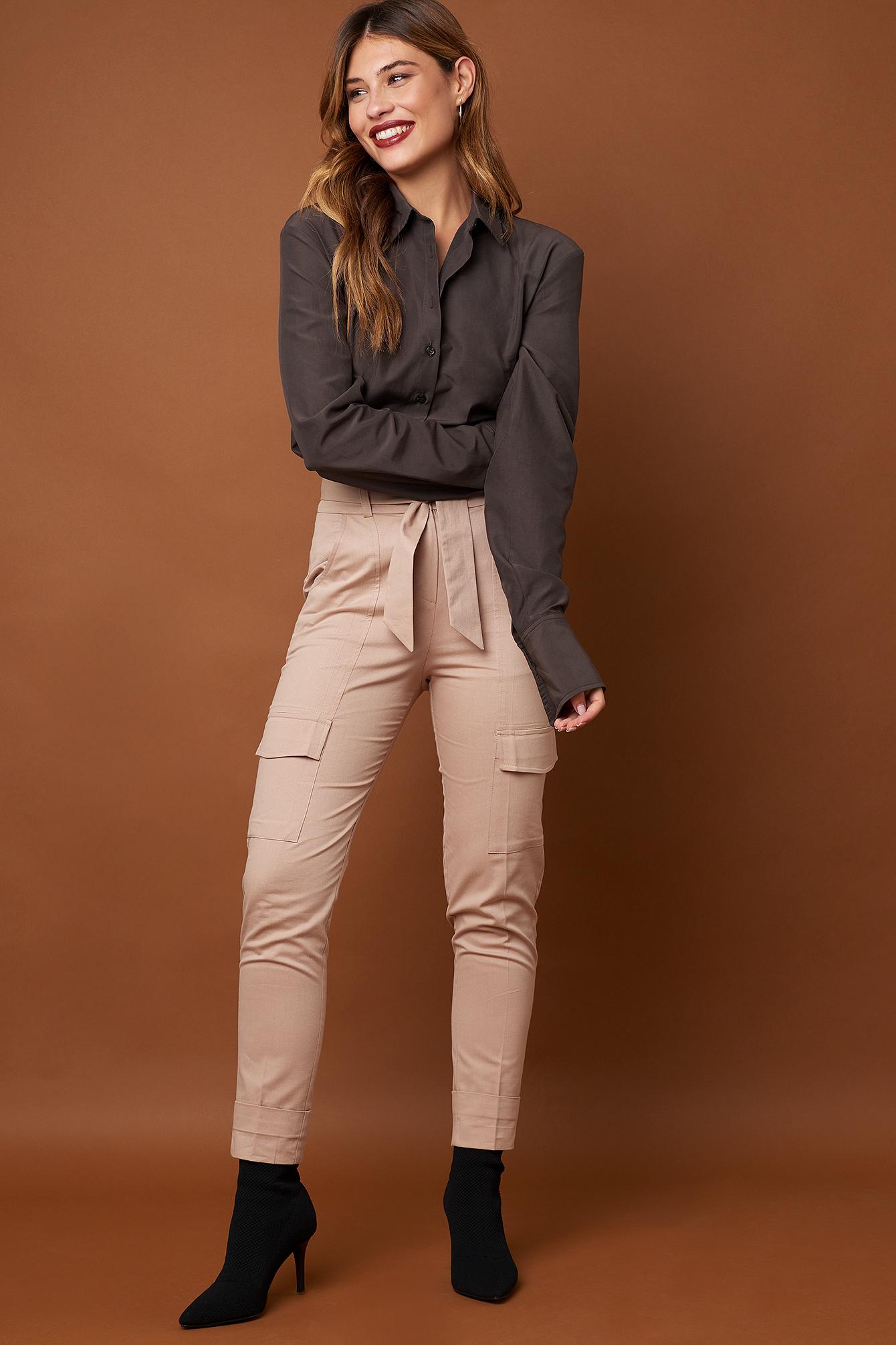 Long Sleeve Wide Cuff Shirt NA-KD.COM
